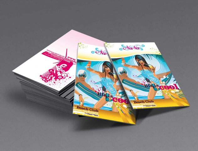 NaNa - (Turkey): Marketing Kit Material | Flyer - Card Design