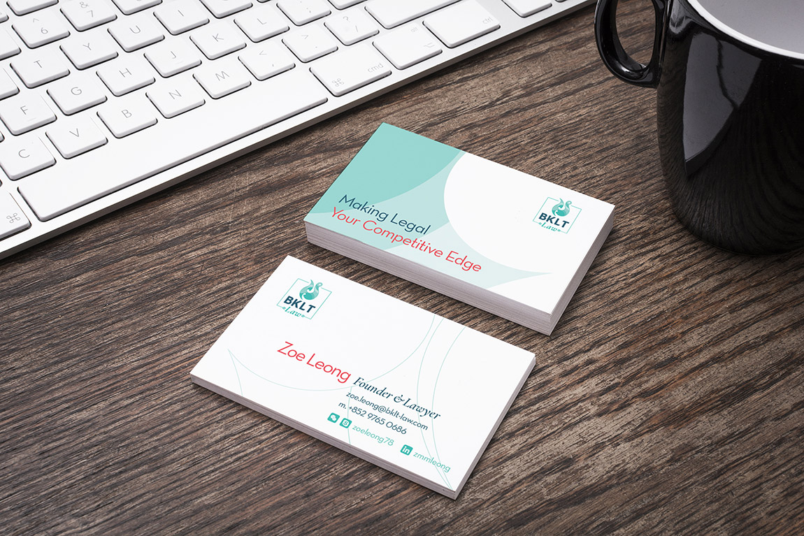 BKLT Law Brand Identity Logo Business Card