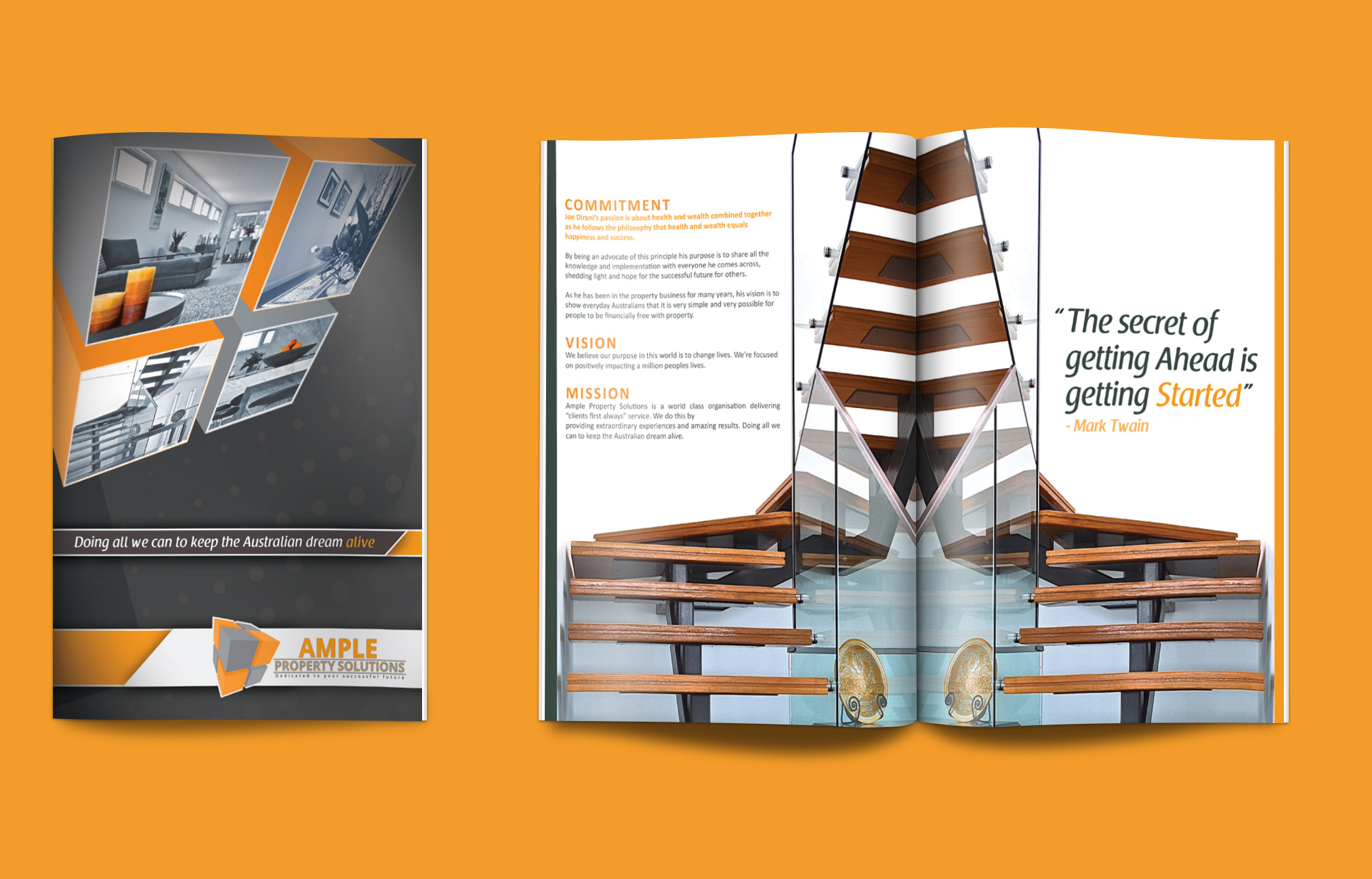 Ample Property - (Australia): Marketing Kit Material | Catalogue Design