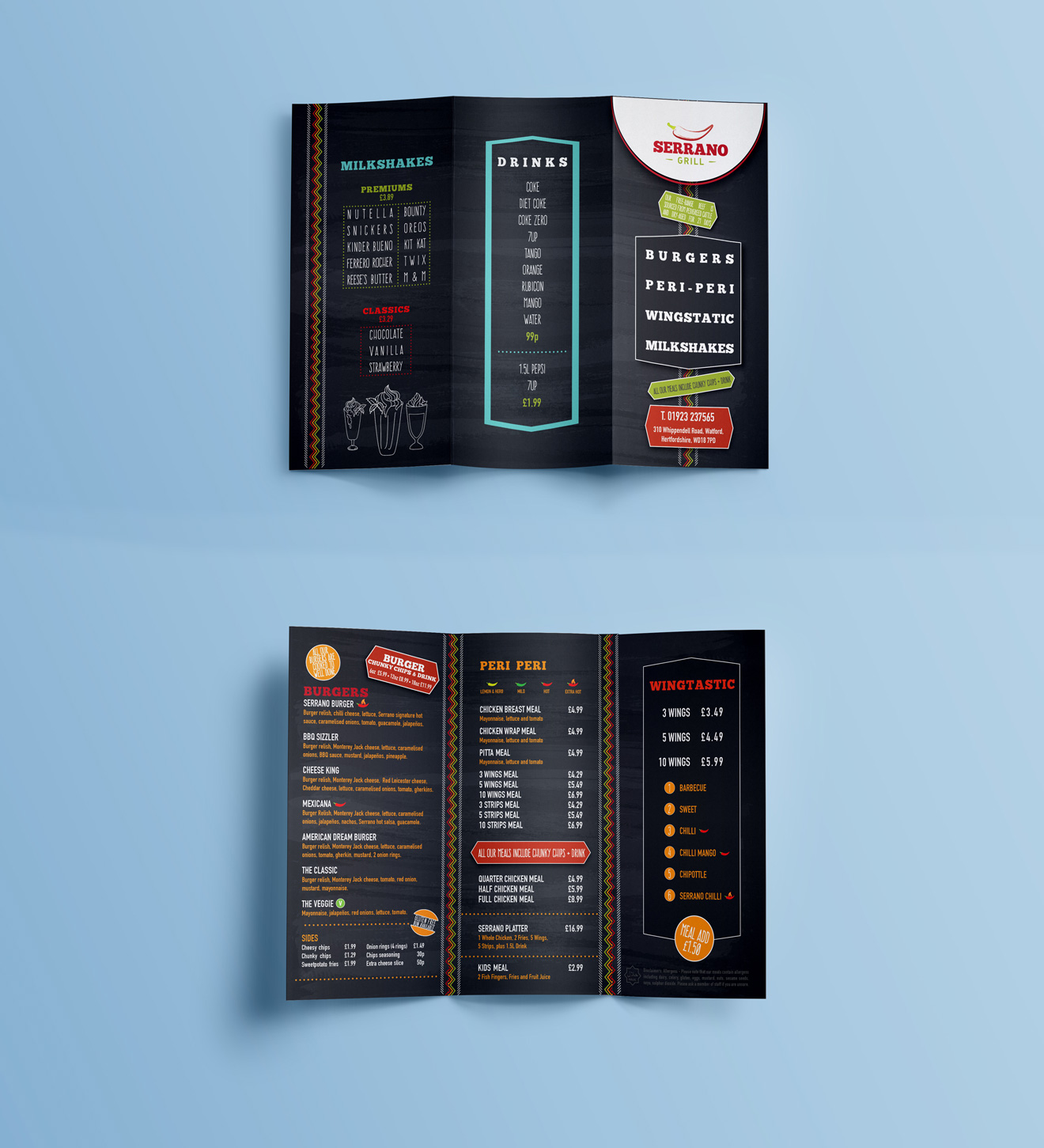 Serrano - (UK): Identity | Branding | Menu Design