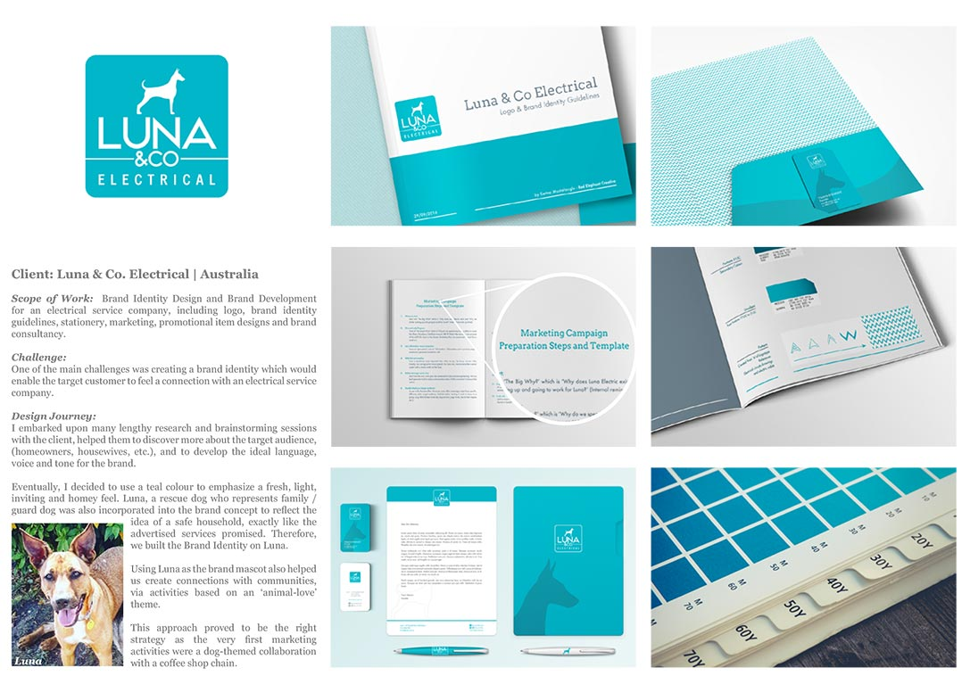 Luna & Co - (Australia): Identity | Branding | Logo | Collateral Design | Business Card | Letterhead Design