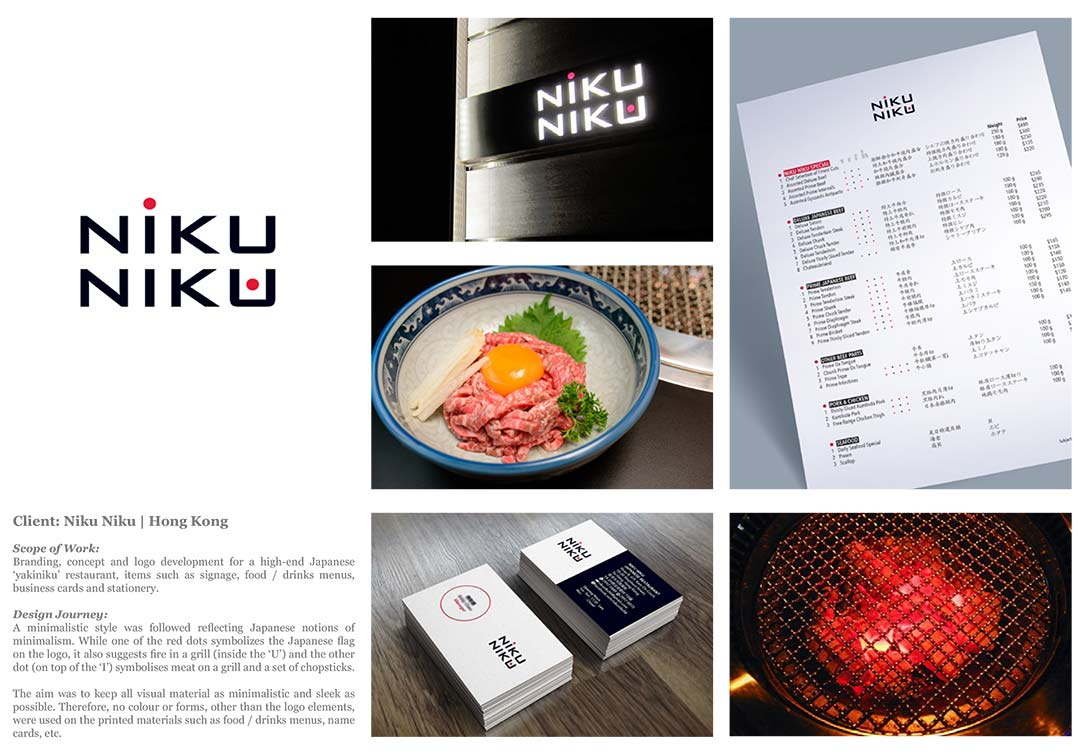 Niku Niku - (Hong Kong): Identity | Branding | Logo | Business Card | Menu | Signage Design